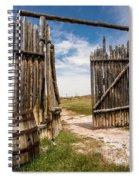 Historic Fort Bridger Gate - Wyoming Spiral Notebook