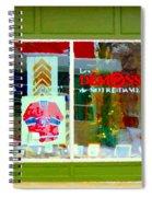 Historic Habs Hockey Jersey St Henri Storefront Les Demons De Notre Dame Montreal Art Carole Spandau Spiral Notebook