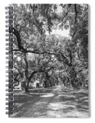 Historic Lane Bw Spiral Notebook