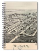 Historic Map Of Plano Texas 1891 Spiral Notebook
