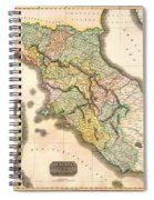 Historic Map Of Tuscany 1814 Spiral Notebook