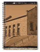 Historic Power Sepia Spiral Notebook