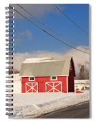 Historic Red Barn On A Snowy Winter Day Spiral Notebook