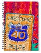 Historic Route 40 Pop Art Spiral Notebook