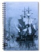 Historic Seaport Blue Schooner Spiral Notebook