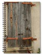 Historic Window Shutters Spiral Notebook