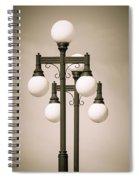Historic Ybor Lamp Posts Spiral Notebook