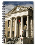 Historical Athens Alabama Courthouse Christmas Spiral Notebook