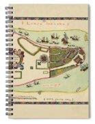 Historical Map Of Manhattan 1661 Spiral Notebook