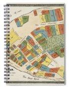 Historical Map Of Manhattan Spiral Notebook