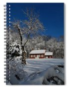 Historical Society House In The Snow Spiral Notebook