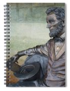 History - Abraham Lincoln Contemplates -  Luther Fine Art Spiral Notebook