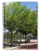 Lincoln Square Springfield Il - Luther Fine Art Spiral Notebook