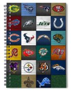 Hit The Gridiron Football League Retro Team Logos Recycled Vintage License Plate Art Spiral Notebook
