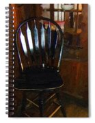 Hitchcock Chair In The Corner Spiral Notebook