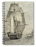 Hms Beagle In Phosphorescent Sea Spiral Notebook