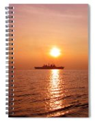 Hms Illustrious Leaving Liverpool Spiral Notebook