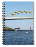 Hoan Bridge Boats Light House 1 Spiral Notebook