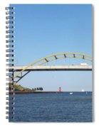 Hoan Bridge Boats Light House 4 Spiral Notebook