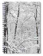 Hoar Frost Covered Trees In Forest Spiral Notebook