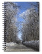 Hoar Frost On Campground Road Spiral Notebook