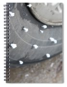 Hoarfrost On Tire Spiral Notebook