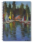 Hobie Cats At Lake Arrowhead Spiral Notebook