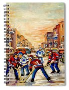 Hockey Daze Spiral Notebook