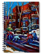 Hockey On De Bullion Montreal Spiral Notebook