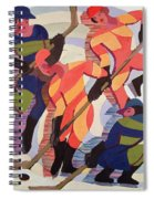 Hockey Players Spiral Notebook