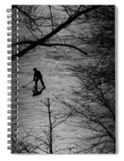 Hockey Silhouette Spiral Notebook