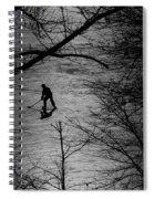 Hockey Silhouette Spiral Notebook