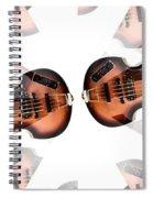 Hofner Bass Abstract Spiral Notebook