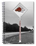 Hog Sign - Selective Color Spiral Notebook