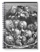 Hogarth: Physicians, 1736 Spiral Notebook