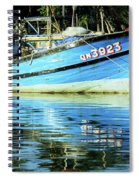 Hoi An Fishing Boat 01 Spiral Notebook