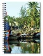 Hoi An Fishing Boats 01 Spiral Notebook