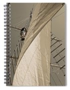 Hoisting The Mainsail In Sepia Spiral Notebook