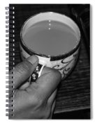 Holding A Full Cup Of Hot Tea Spiral Notebook