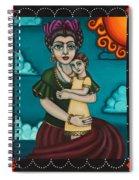 Holding Diegito Spiral Notebook