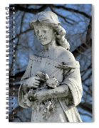 Holding Memorial Flowers Spiral Notebook