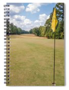 Hole Flag At A Golf Course Spiral Notebook