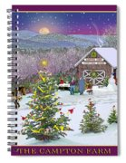 Holiday At Campton Farm New Hampshire Spiral Notebook