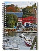 Holiday At Rockport Spiral Notebook