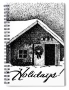 Holiday Barn Spiral Notebook