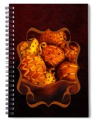 Holiday Citrus Bowl Iphone Case Spiral Notebook