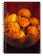 Holiday Citrus Bowl  Spiral Notebook