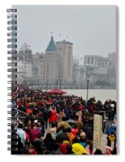 Holiday Crowds Throng The Bund In Shanghai China Spiral Notebook