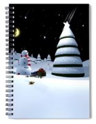 Holiday Falling Star Spiral Notebook