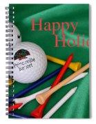 Holiday Golf Spiral Notebook